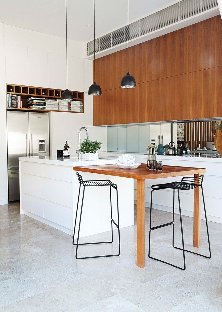 Beautiful finishes extending across this open-plan kitchen, living and dining space create a cohesive whole | Home Beautiful Magazine Australia