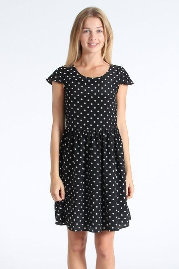 Boasting more girliness than you could throw a bag of pixie dust at, the Cap Sleeve Dress from Arc & Bow is a girl-worthy mix of polka dots and figure-flattering aesthetics, including a gathered waist, skater-style skirt and a cheeky short length.