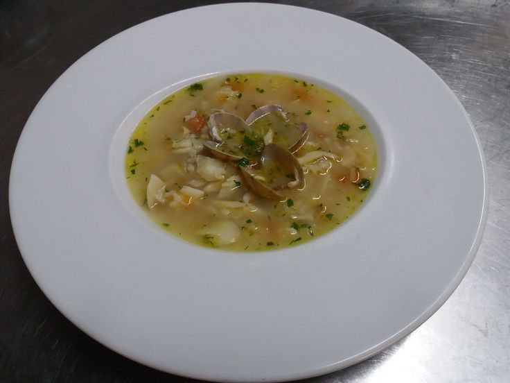Sopa de Bacalhau com Amêijoas