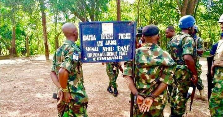 Photos: Fake military base uncovered in Okpokwu, Benue State
