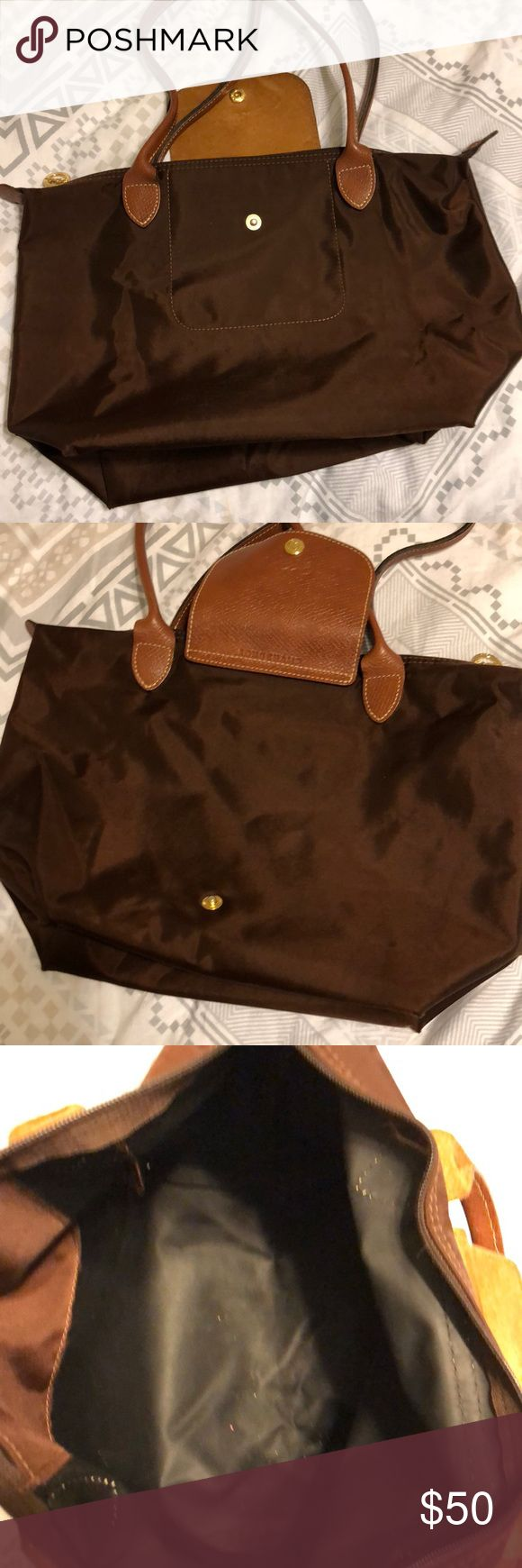 Small Longchamp bag Small long Champ bag slightly dirty on inside but nothing that can be washed out Longchamp Bags Shoulder Bags