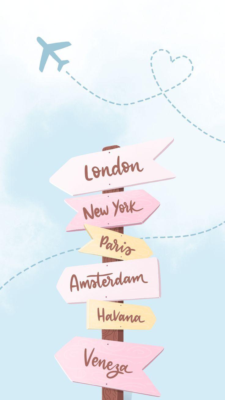 Wallpaper World Adventures by Gocase, London, New York, Paris, …