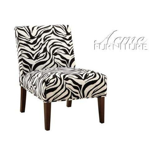 ACME 59152 Aberly Accent Chair  Aberly #Accent #Chair in Zebra Pattern, featuring an elegant, sleek contemporary style and a zebra pattern, perfectly suited for any living room environment. Also featuring durable wood leg frame.