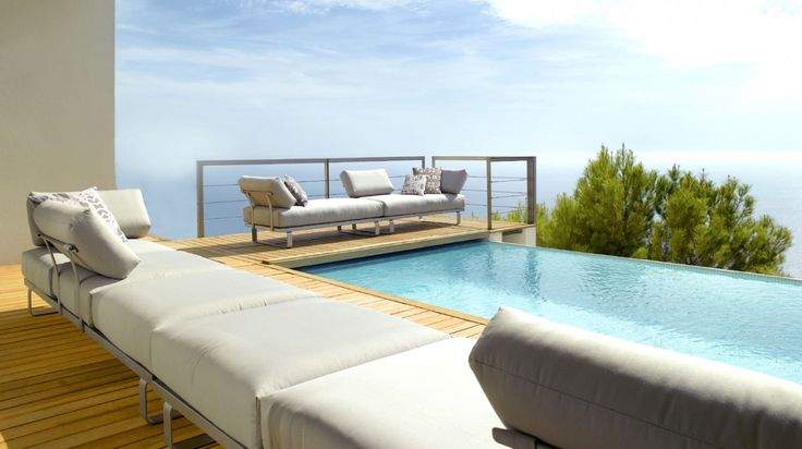 Natal outdoor stainless steel sofa by Tribu
