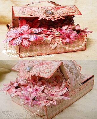 Heartfelt Creations | Fuschia Floral Basket
