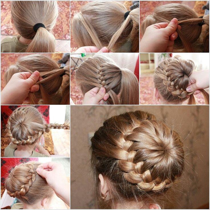 Long hair style braid tutorial how to http://m.beautifulshoes.org/diy-braid-around-ponytail/?fid=11