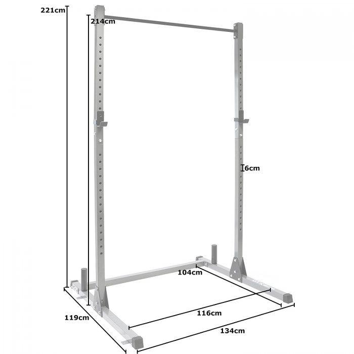 Le DTX Fitness Power Cage : support de Squat et barre de traction