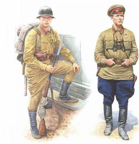 Red Army Infantry, Rifleman and Commissar