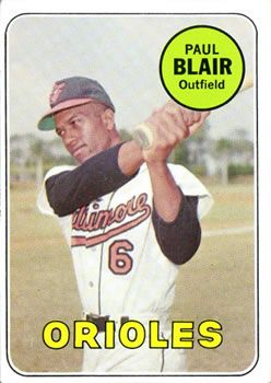 1969 Topps #506 Paul Blair Front