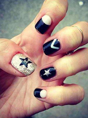Love the combination of the half-moon design and stars!