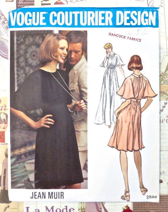 Modèle de robe de soirée Vintage 1970 Jean Muir par Fragolina