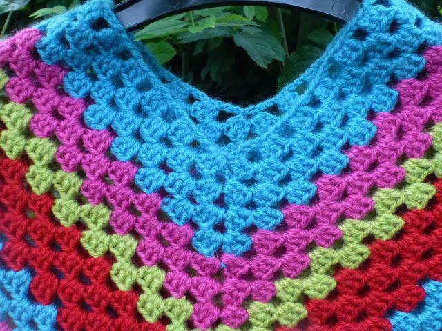 Lindevrouwsweb: Granny Stripe Poncho
