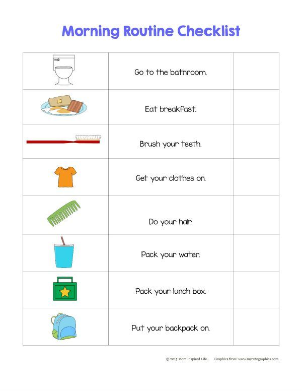 1000 ideas about kids morning checklist on pinterest