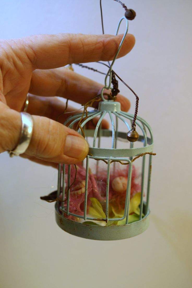 WoodLand pixie FAIRY in cage (72 ) ooak poseable art doll by DinkyDarlings by DinkyDarlings on Etsy