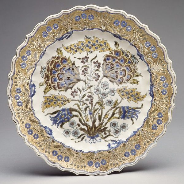 Plate Zsolnay factory Date: ca. 1880 Culture: Hungarian, Pécs
