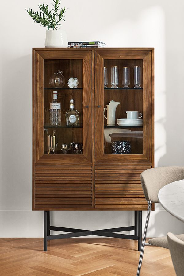 Adrian Glass Door Cabinet Modern Cabinets Armoires Modern