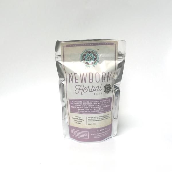 Newborn Herbal Bath, 4oz by weight The herbal bath is a relaxing and healing experience which is recommended for both mother and baby, or father and baby, shortly after birth. Helps soothe skin, repai