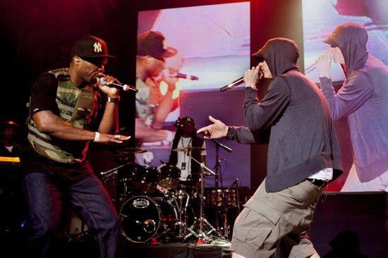 Eminem and 50 Cent at Shady 2.0 SXSW Showcase