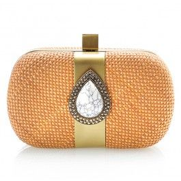 BOHEMIAN DREAMING CLUTCH - WHITE