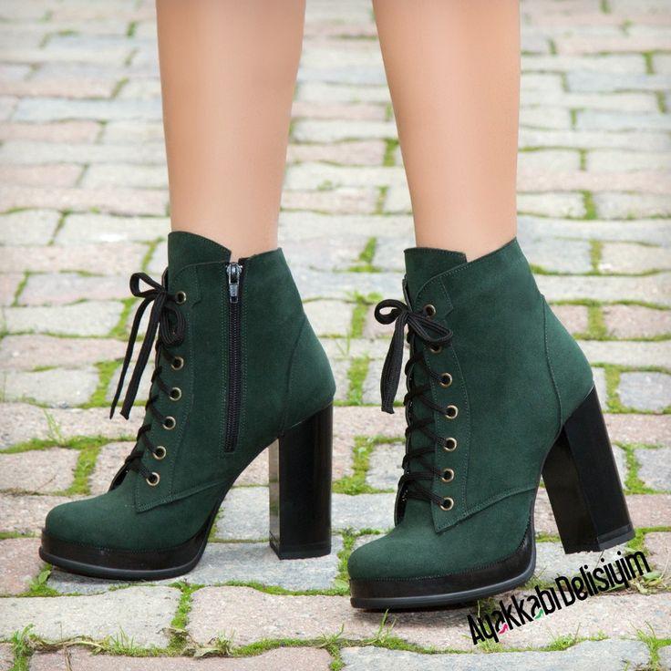 Solomon Topuklu Haki Bot #shoes #boots #platform