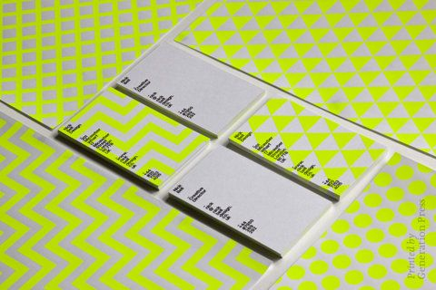 i'm so into neon: Business Cards, Belle Stationary, Bright Color, Belle Design, Graphics Design, Neon Patterns, Neon Color, Neon Yellow, Nick Belle