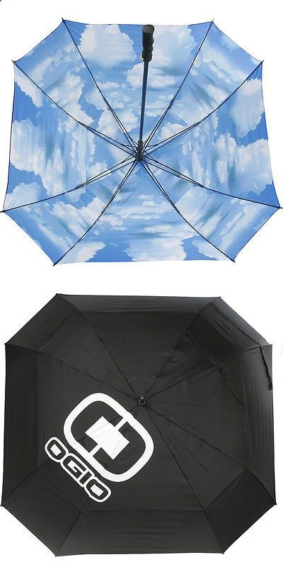 Golf Umbrellas 18933: Ogio Golf Umbrella Black Blue Sky -> BUY IT NOW ONLY: $59.99 on eBay!