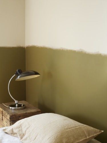 Soubassement vert olive | olive green wall | Méchant Studio Blog: 2016.