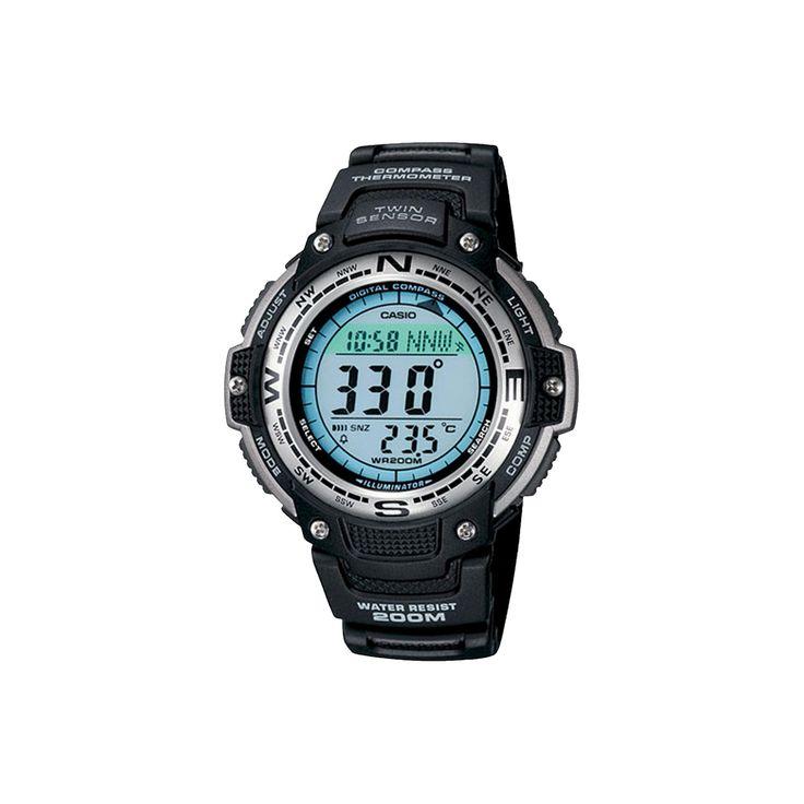 Men's Casio Digital Compass Twin Sensor Sport Watch - Black (SGW100-1V), Size: Large