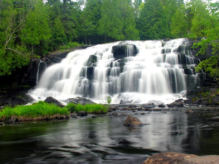 Bond Falls Is A Popular Attraction For Porcupine Mountains Visitors And Its Picturesque Beauty