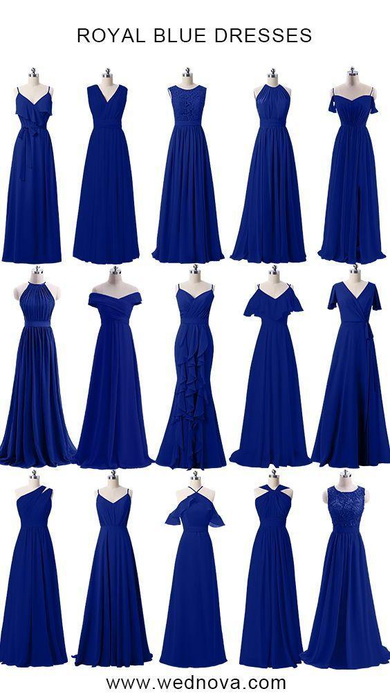 wednova royal blue bridesmaid dresses under 100 for weddings
