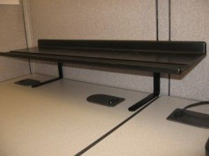 Expand and Elevate your Cubicle Storage with a Desk Shelf