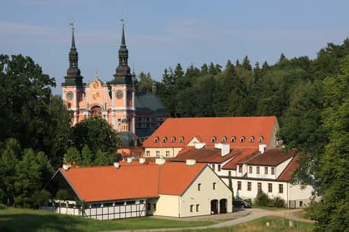 The beautiful sanctuary in Swieta Lipka front side