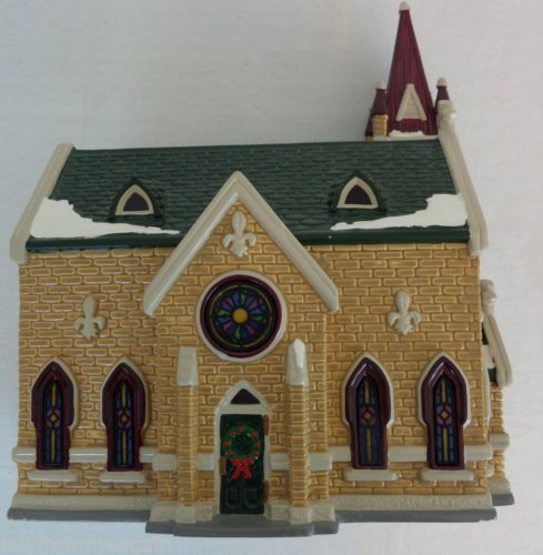 Painting Church In Snow Religious Christmas Ceramic: 53 Best Christmas Ceramic Villages & Putz Houses Images On