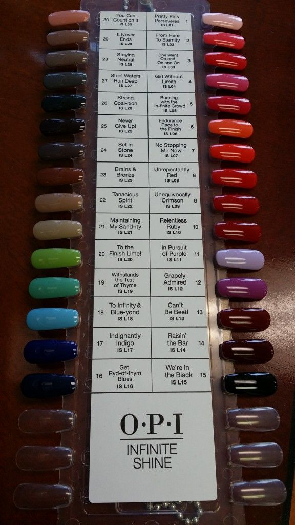 The amazing color selection from Infinite Shine by OPI. 30-all new colors. Some great names too! #opi #infiniteshine @opiproducts