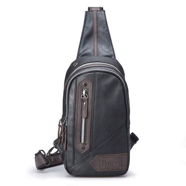 4f7bd960a Men Casual Outdoor Faux Leather Sling Bag Chest Bag Crossbody Bag For Men  is worth buying - NewChic