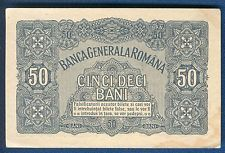 ROMANIA  50 Bani 1917 German occupation at ww1 Banknote aUNC