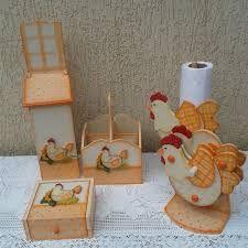 Resultado de imagem para kit de cozinha com galinha