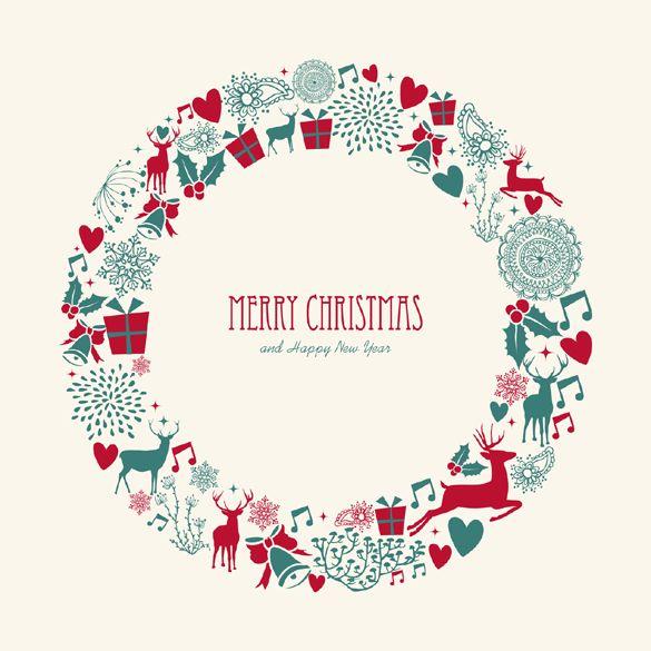 Illustration Christmas wreath