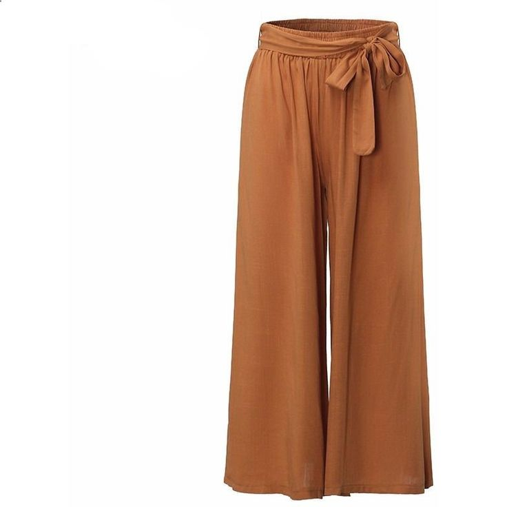 Bow Legs - Women Bow Tie Pleated Loose Wide Leg Trouser Pants | Women's Dresses Accessories For Less Looking for a Permanent Remedy for Bow Legs - Without the Need for Surgery?