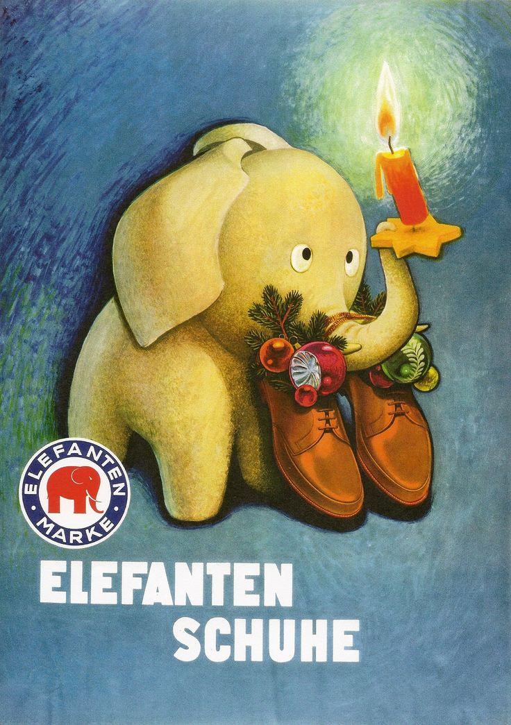 Elefanten Schuhe  1950er -60er