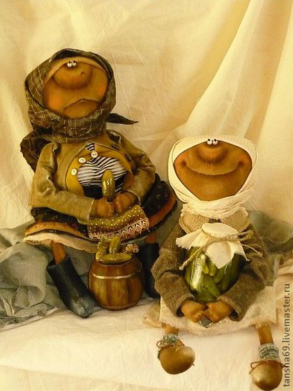 Агурчики! - примитивная кукла,примитивы,текстильная кукла,ароматизированная кукла