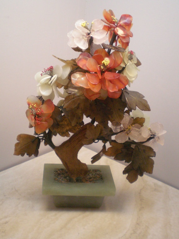 Vintage Gem Tree Gemstone Tree Mid Century By