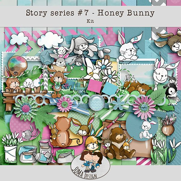 Oscraps.com :: Shop by Category :: All New :: SoMa Design: Honey Bunny Kit