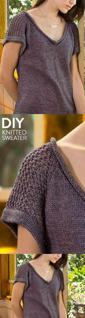 Searching for a sweater for warmer weather? Get the Craftsy knitting kit complete with yarn and pattern!