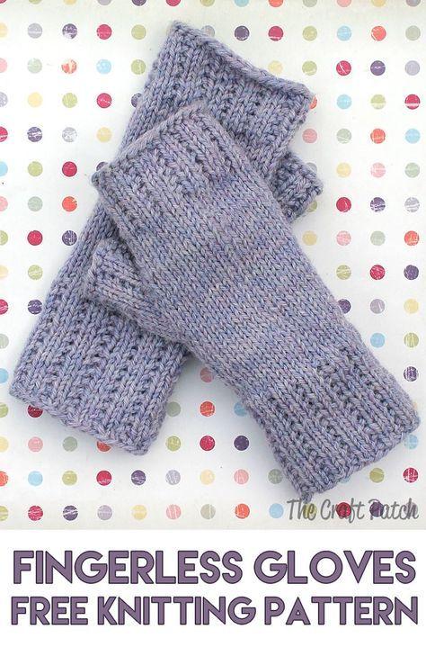 Aprenda a tricotar: mãos felizes sem dedos Mitts padrão livre
