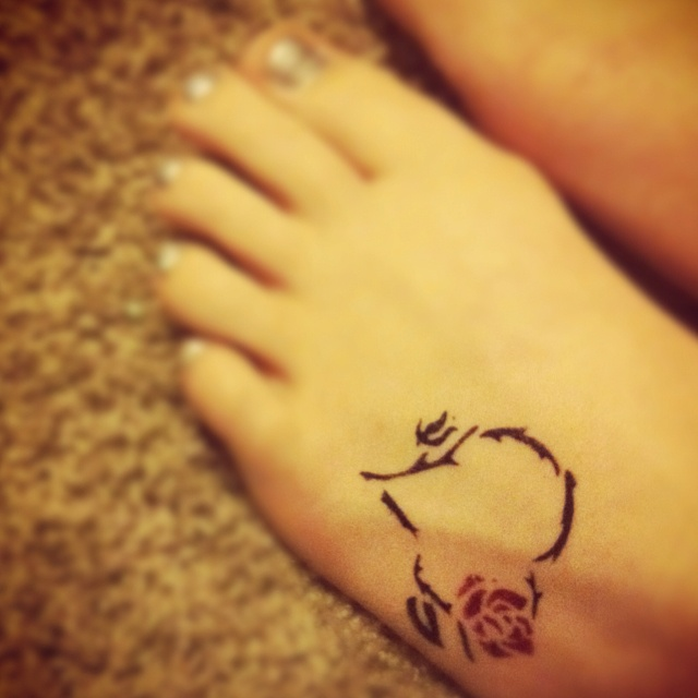 cute little tattoo...not sure about the spot yet.