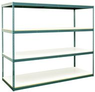 The Rivet System Series 14 boltless shelving unit features the same rugged design as our other models in the Rivet System line an comes complete with easy to clean, stain resistant while laminated particle board.  Single Rivet System Series 14 boltless shelving units start at just $74.75. Order today! 1-800-966-3999 actionwp.com