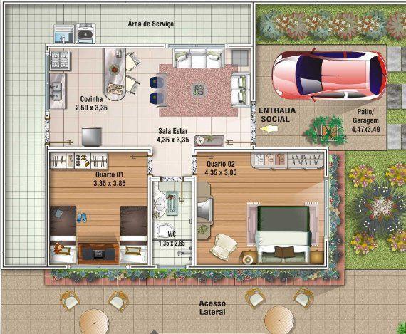 Plano apartamentos 80 m2 buscar con google decoracion for Planos de casas de una planta de 120 metros cuadrados