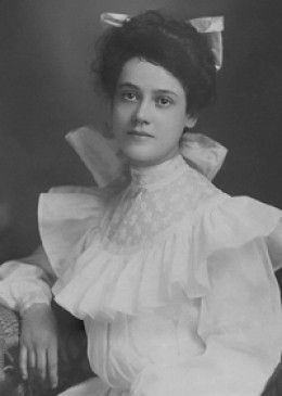 Zillah at 17 shortly before her marriage.