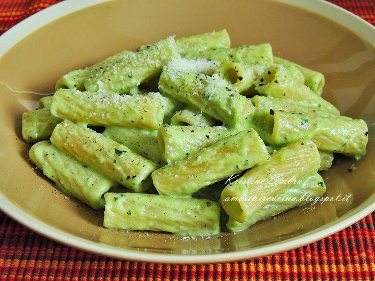 Amore per  la cucina!: Паста с кремом из стручковой фасоли и мяты/ Pasta con crema di fagiolini e menta.